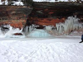 snow, ice, rocks...