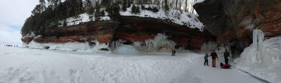 snow, ice, rocks