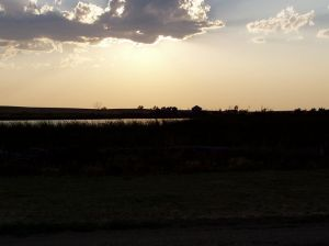 Evening on the prairie at Midland, SD.