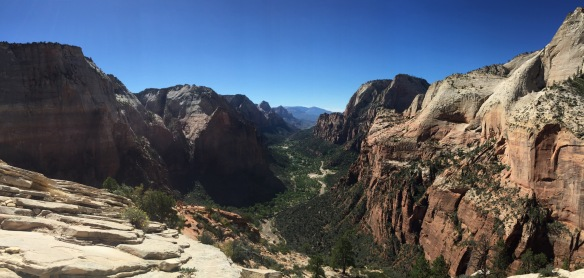 The view of Zion Canyon from Angels Landing